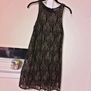 ASTR Golden Floral Black Disco Night  Dress **S
